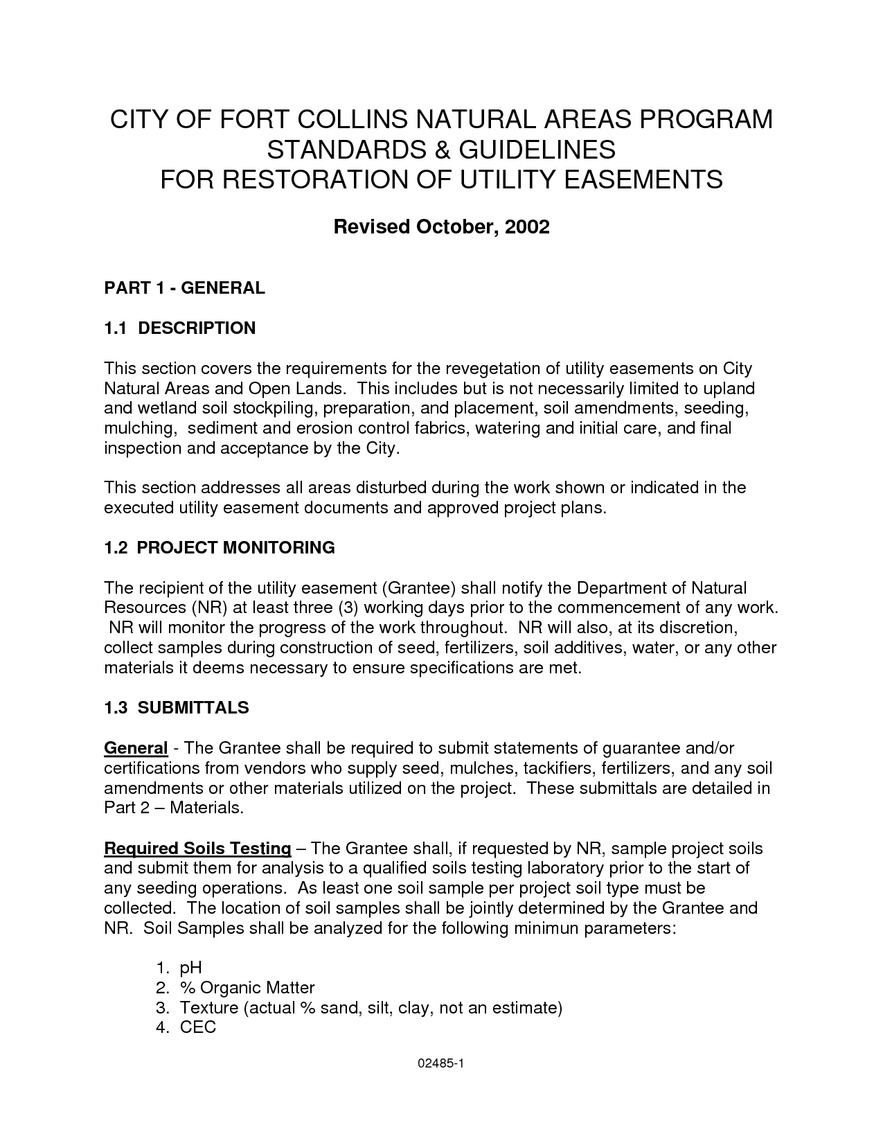 Road and Utility Easement Letter of Agreement Sample - PDF by ...