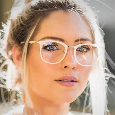 Photo of CCSPACE Ladies Square Glasses Frames Women Metal Legs Brand Designer Optical EyeGlasses Fashion Eyewear Computer Glasses 45466