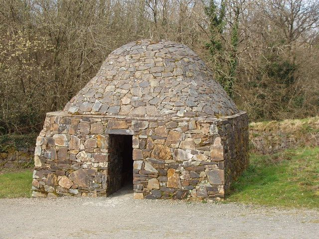 A not so old Stone domed beehive hut, Irish National