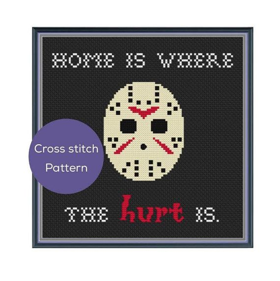 Home is Where the Hurt is Cross Stitch Pattern by 8bitstitching