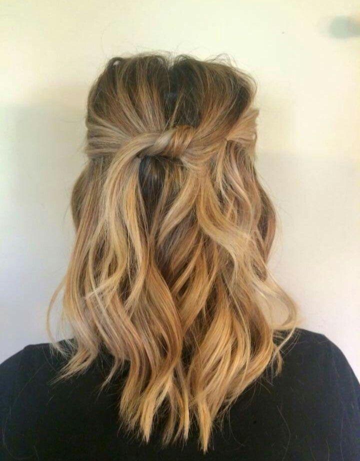 Half Up Twist Hair Inspiration Hair Styles Hair Medium Hair