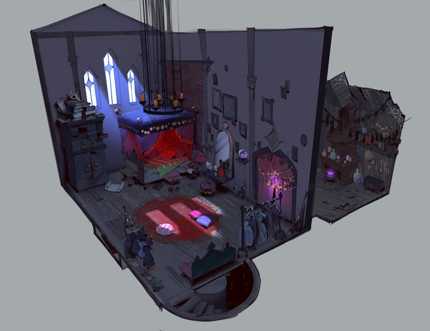 ArtStation - young witch room concept, Sergei Ryzhov