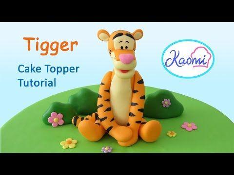 Tigger (Cake Topper) with gum paste / Tigger en pasta de goma - YouTube