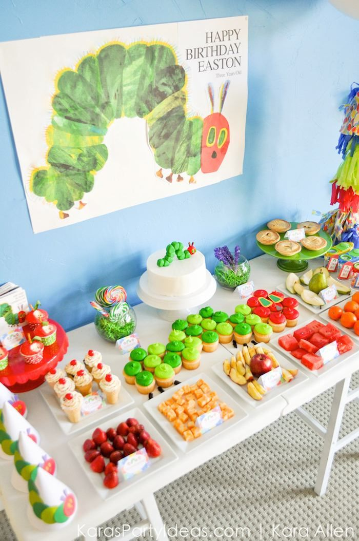 3rd birthday party ideas for boy dinosaur birthday the very hungry caterpillar 3rd birthday party karas ideas place for all things parties pinterest