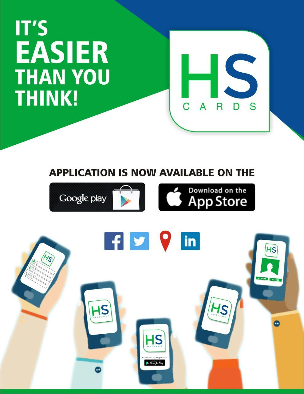 Stay Connected with HANDSHAKE Smart Digital Visiting Cards. Download ...