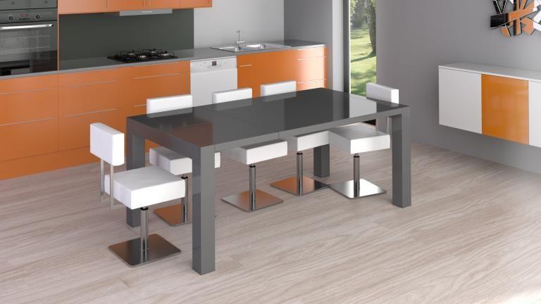 Mesa con largueros Reflection una mesa de comedor de cristal de