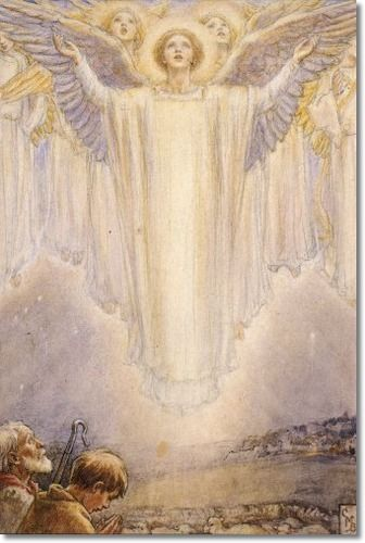 Cicely Mary Barker - Religious Works - White Shepherds Watch Their Flocks by Night Painting