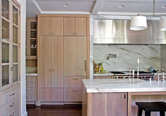 Whitewashed Cabinets Houzz White Washed Oak Kitchen Best ...