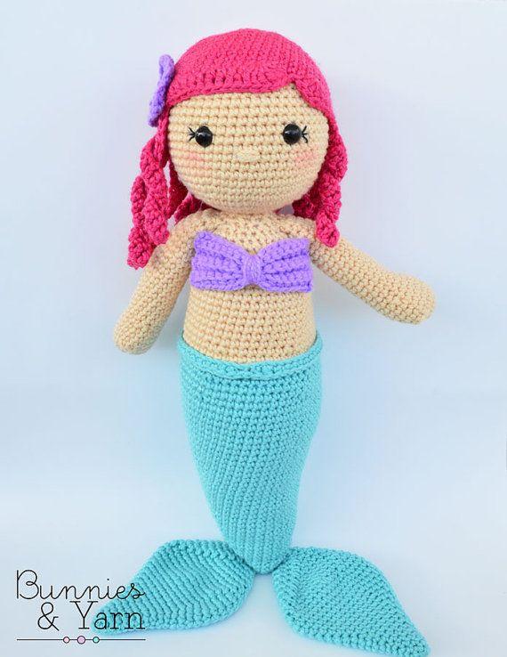 CROCHET PATTERN Anna the Friendly Mermaid 18 by BunniesandYarn ...