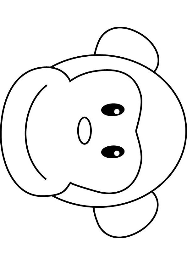 Bongo Monkey Coloring Drawing Monkey Drawing Monkey Drawing Easy Monkey Coloring Pages