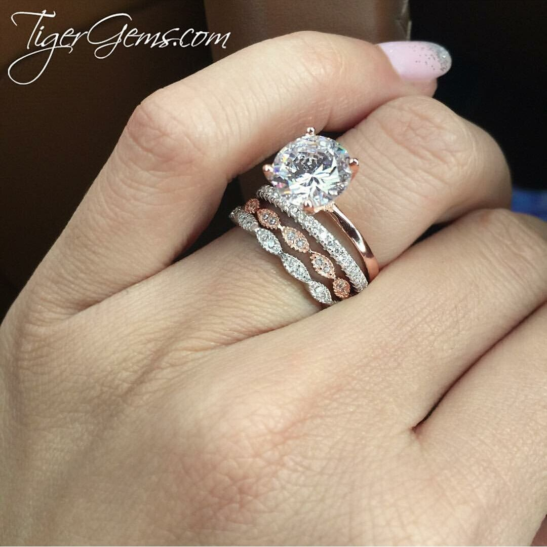 3 Ct 4 Prong Solitaire Ring Rose Gp 60 Final Sale Sz 8 12