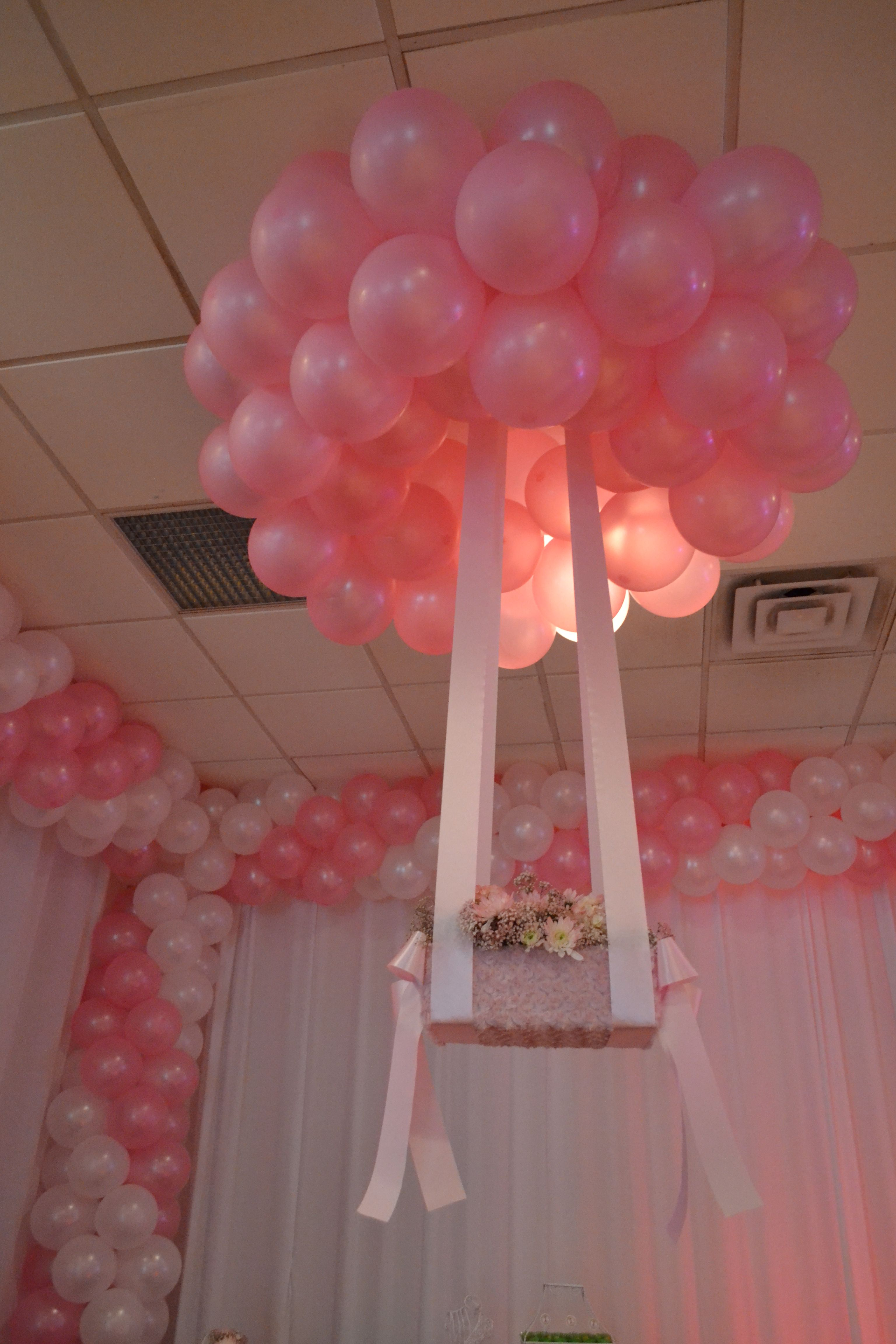Pink Ans White Balloon Decoration Party Ideas In 2019 Balloon