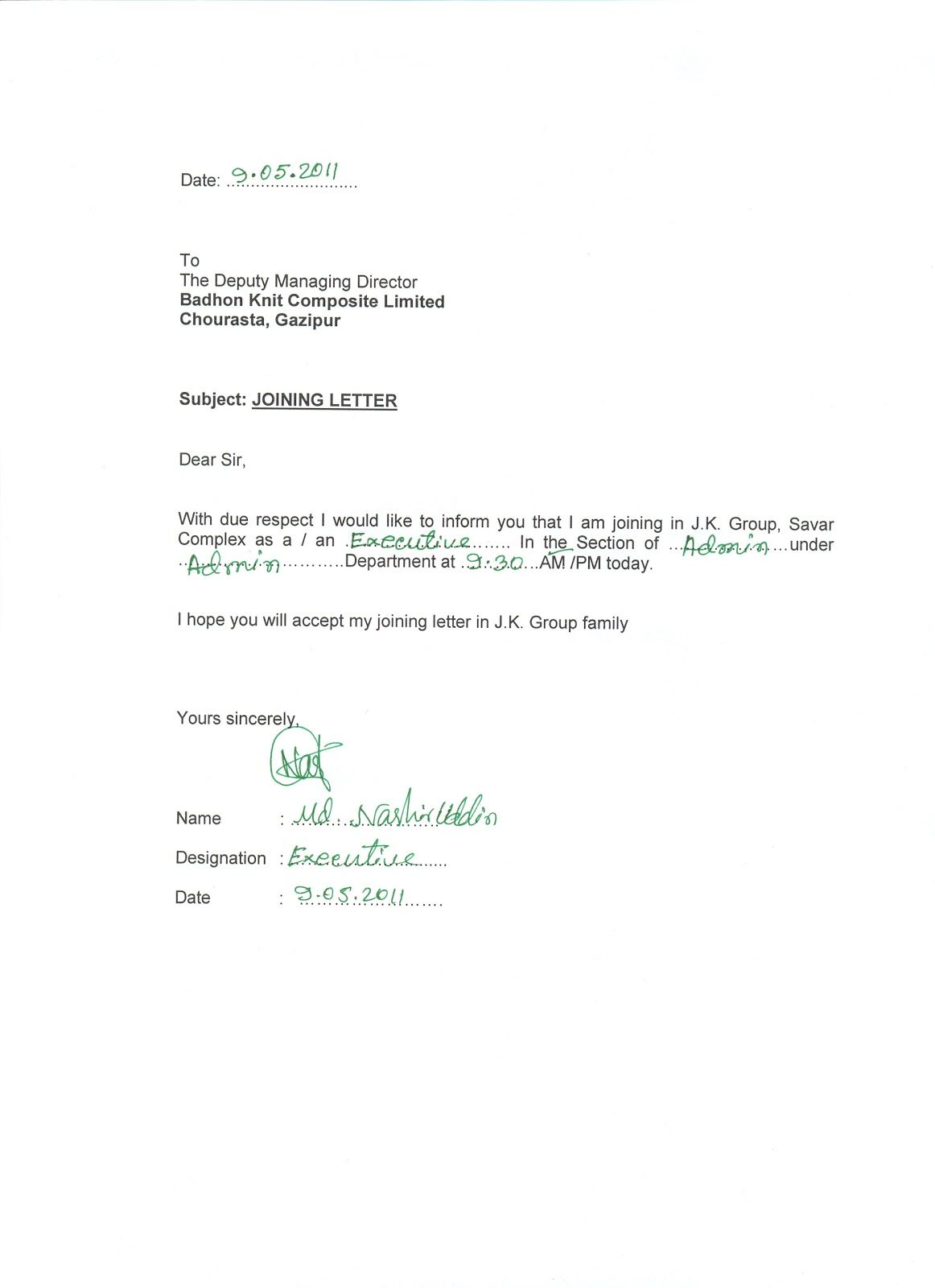 Appointment letter format management trainee acting two open joining letter format for employee appointment templates free sample example altavistaventures Image collections