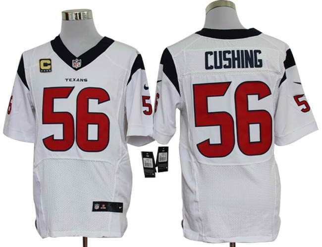 Size 60 4XL Houston Texans  56 Brian Cushing C Patch White Stitched Nike  Elite NFL 097a5d78b