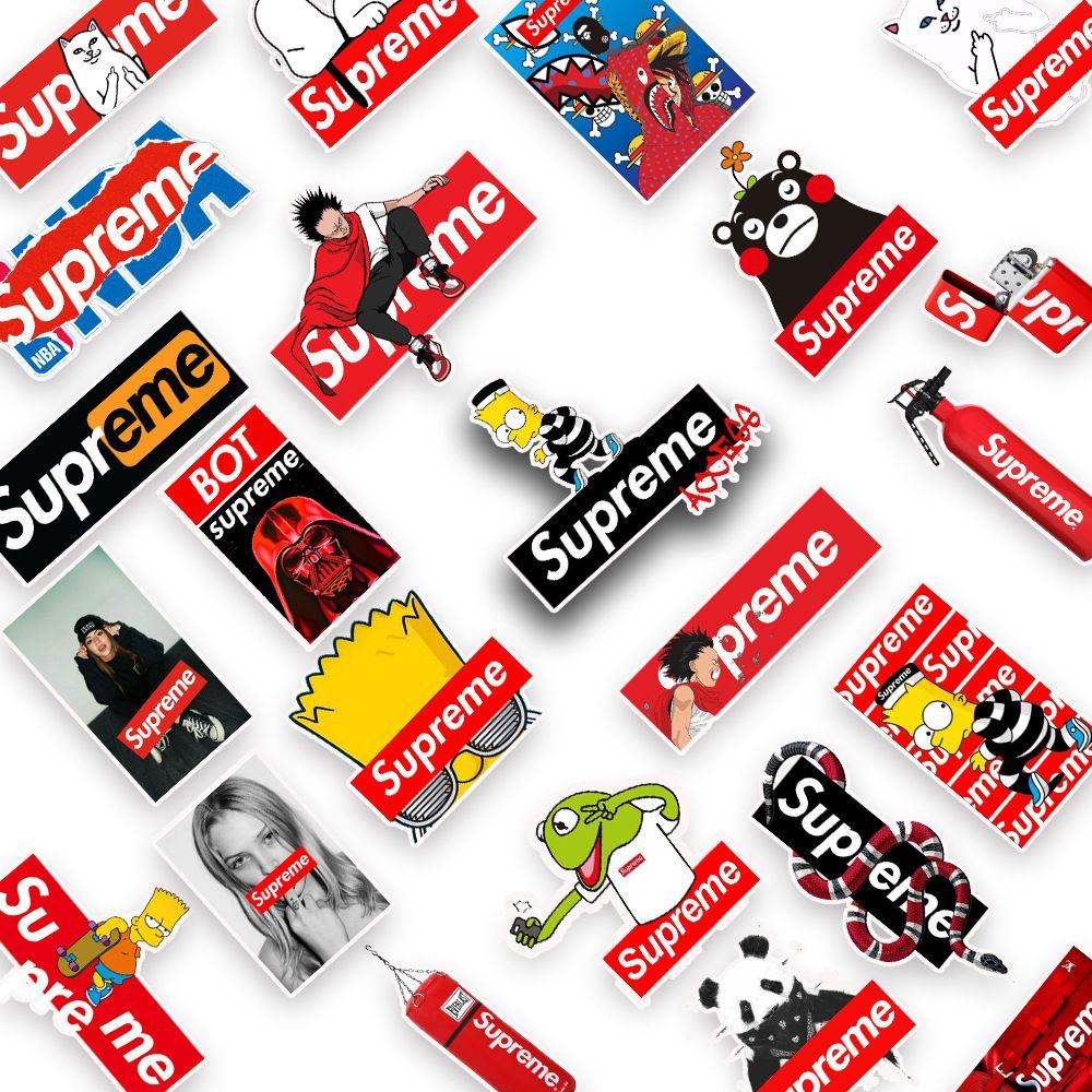 10pcs Supreme Stickers Laptop Skateboard Hypebeast Lot Gift Buy 2 Get 1 Free
