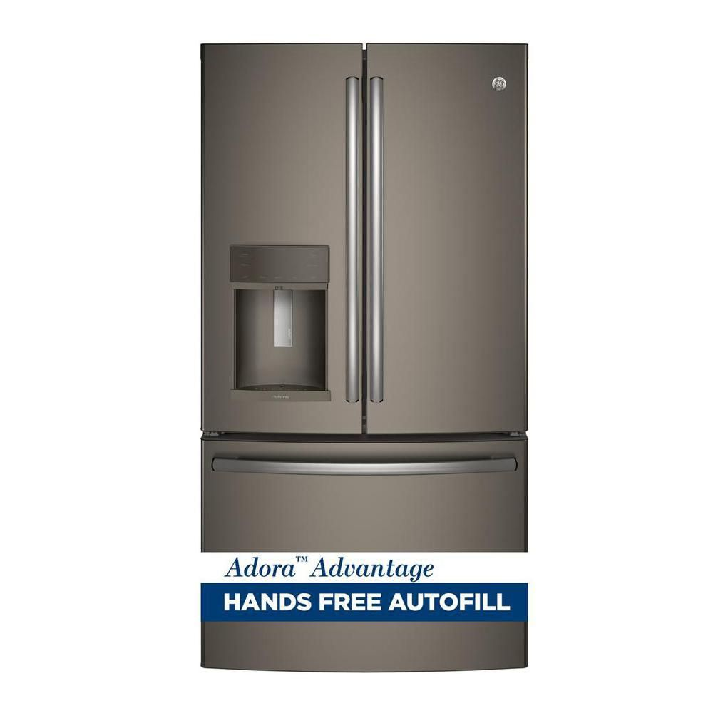 Adora cu ft french door refrigerator in slate grey with