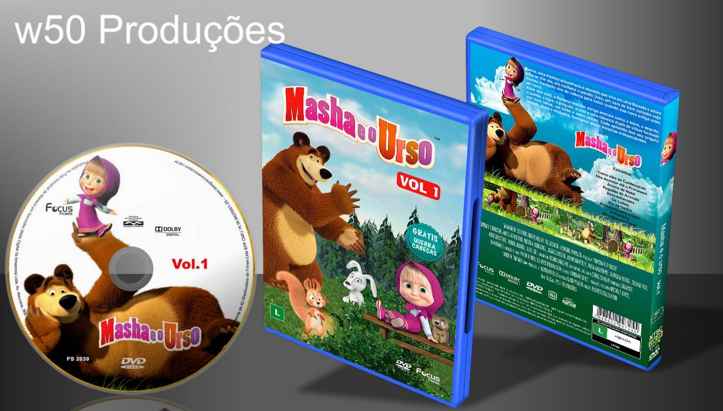 Masha E O Urso Vol.1 - Capa 1 - ➨ Vitrine - Galeria De Capas - MundoNet | Capas & Labels Customizados