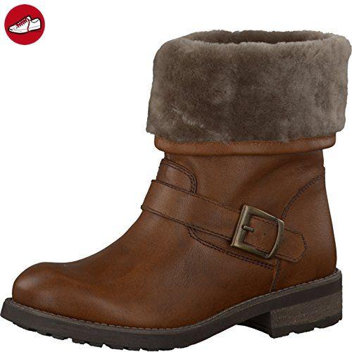 Tamaris Damenschuhe 1-1-26473-37 Damen Stiefel, Boots, Winterstiefel Braun (Cognac), EU 38