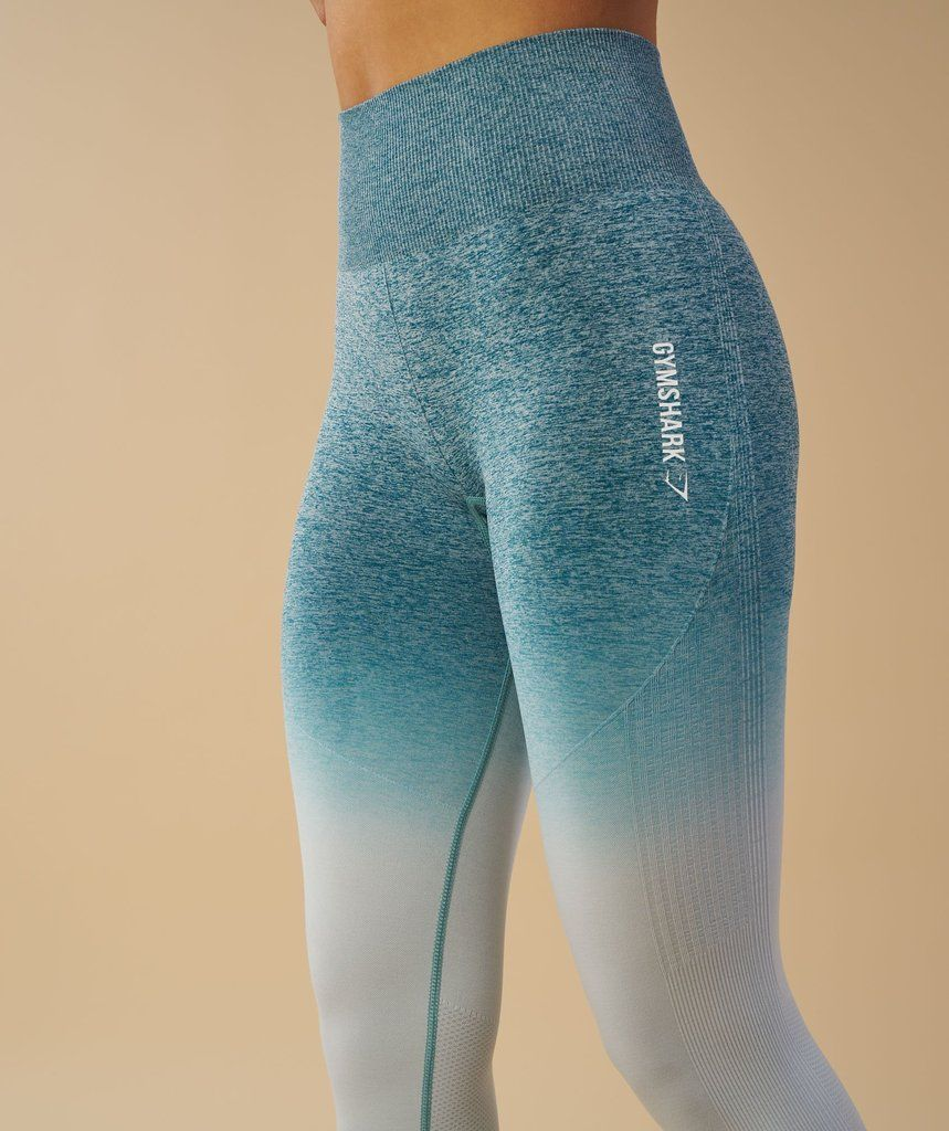 c30f50ab85db6f Gymshark Ombre Seamless Leggings - Deep Teal/Ice Blue 2 | Wants in ...