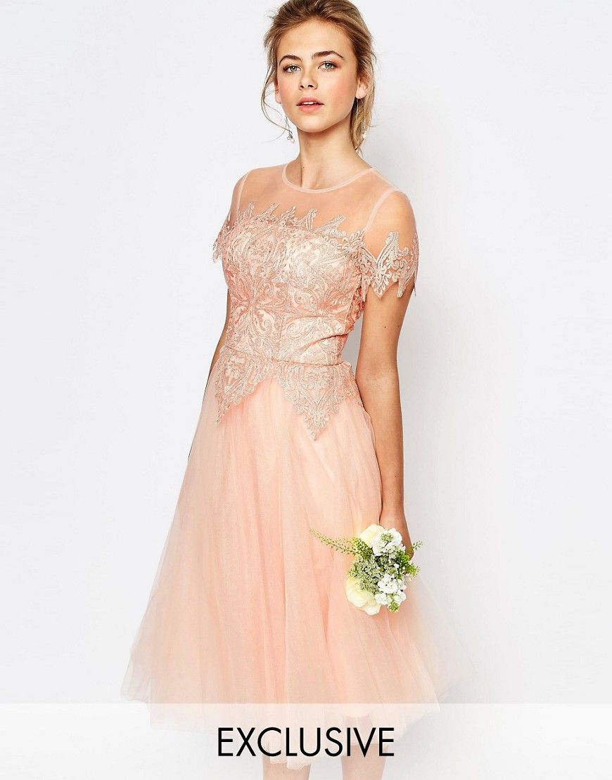 Chichilondontullelacemididress bridesmaid extravaganza