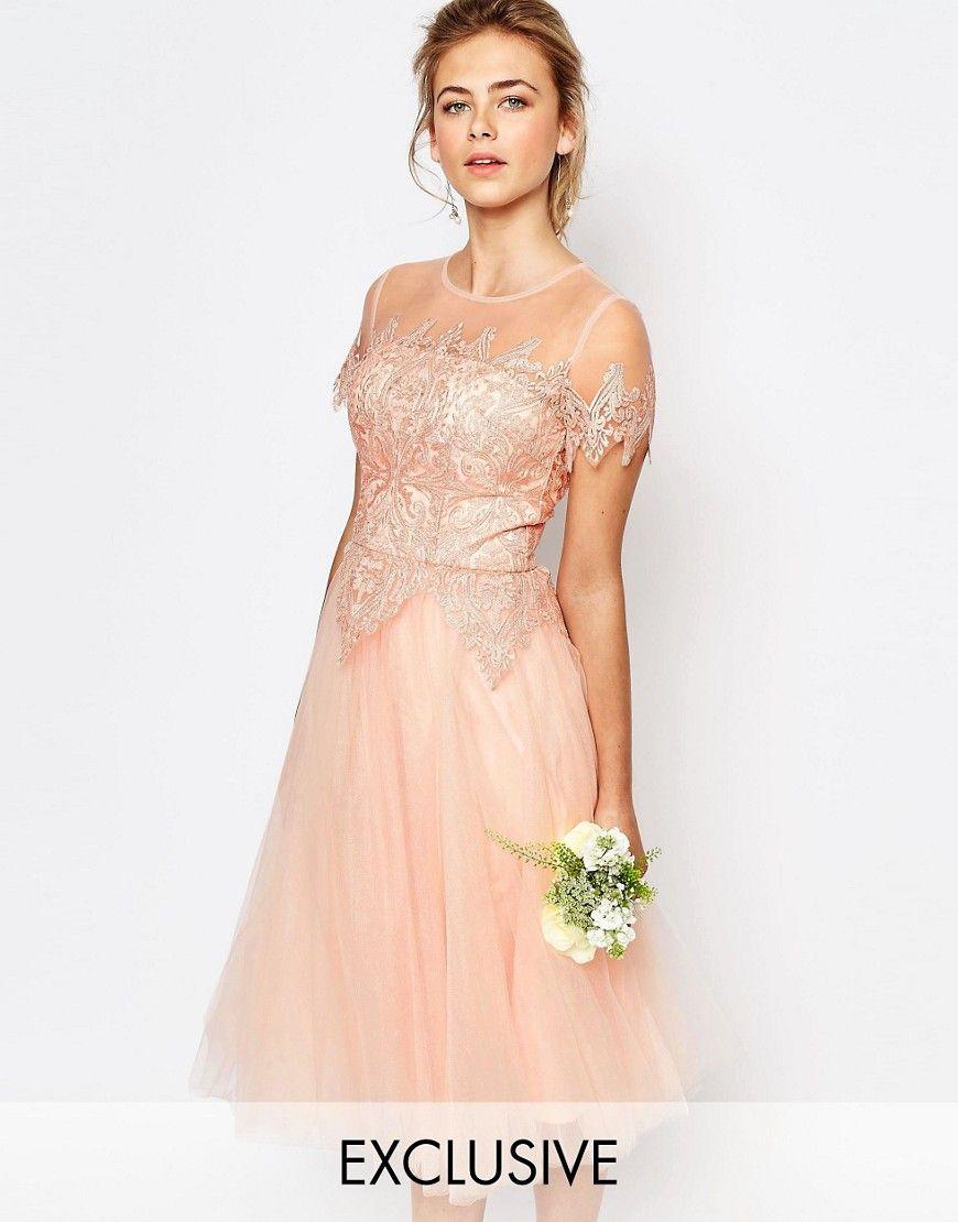 Cocktail Dress RoseEvening Lace Tulle Dresses Midi rdxohQCsBt