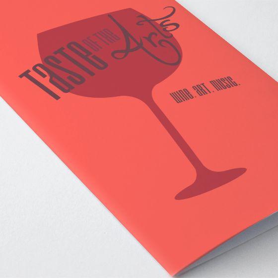 Taste Of The Arts Wine Art Music Event Agenda Booklet