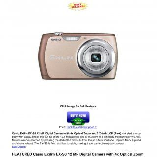 Casio Exilim EX-S8 12 MP Digital Camera with 4x Optical Zoomand 7-Inch LCD (Pink)Click Image for Full ReviewsPrice: Click to check low price !!!Casio Exil. http://slidehot.com/resources/casio-exilim-ex-s8_12_mp_digital_camera_with_4x_optical_zoom_and_2-7-inch_lcd_pink.15848/