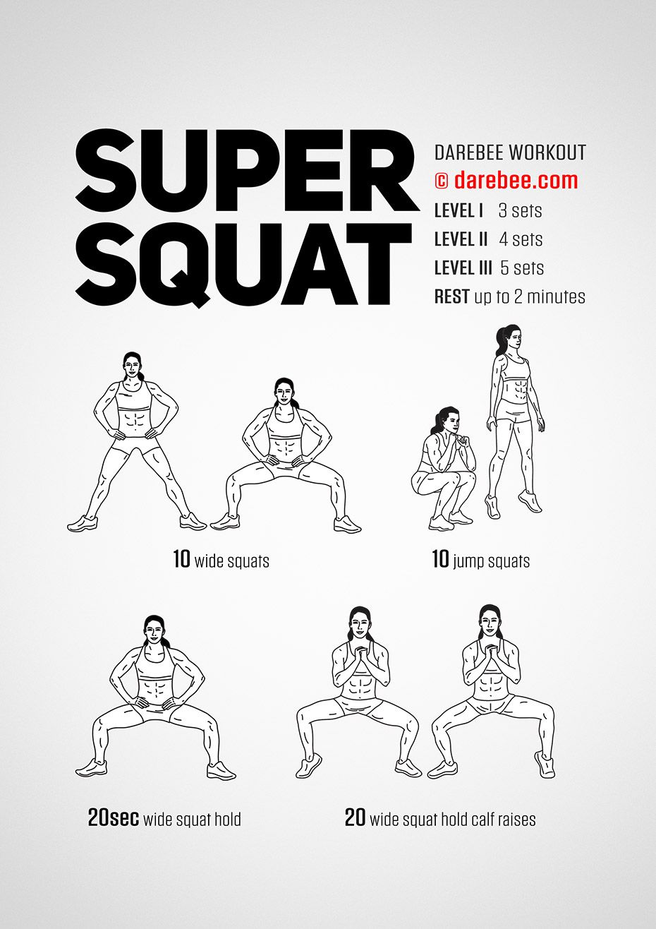 Super Squat Workout Squat Workout Darbee Workout Body