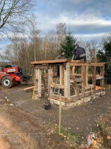 Gartenhaus – Backhaus – Aufbau schreitet voran