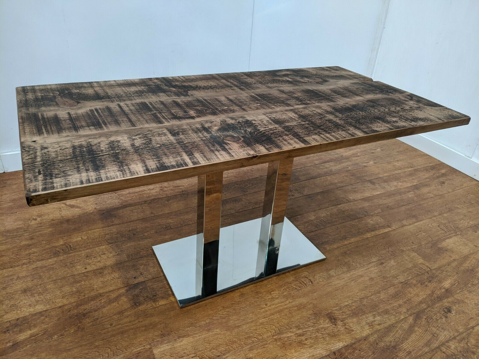 Details about New Large Rustic 6 Seat Heavy Duty Wooden