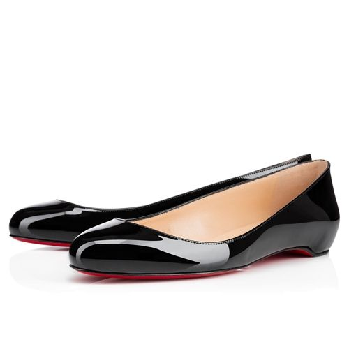 110771fd843e Black · Christian Louboutin Fifi Flat Black Patent Leather · Black Flats  ShoesBlack Ballet ...