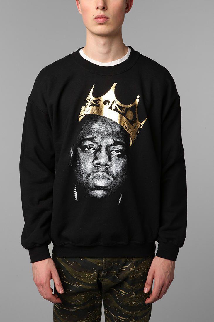 Biggie King Of NYC Crew Sweatshirt  UrbanOutfitters I will be wearing this  too. 178c9473fff