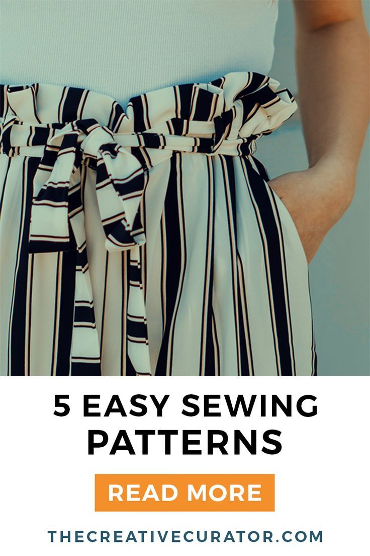5 Easy Sewing Patterns for Beginners - The Creative Curator