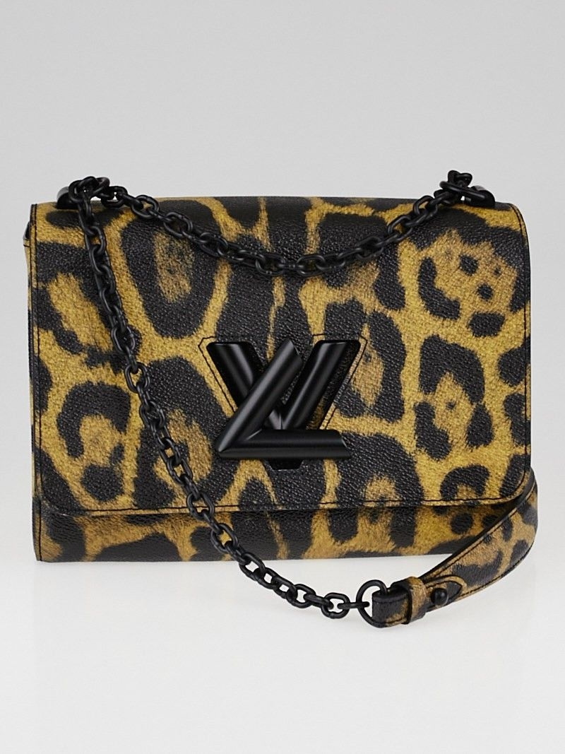 aa697a5350be Louis Vuitton Leopard Print Twist MM Bag | Purses Shoes | Louis ...