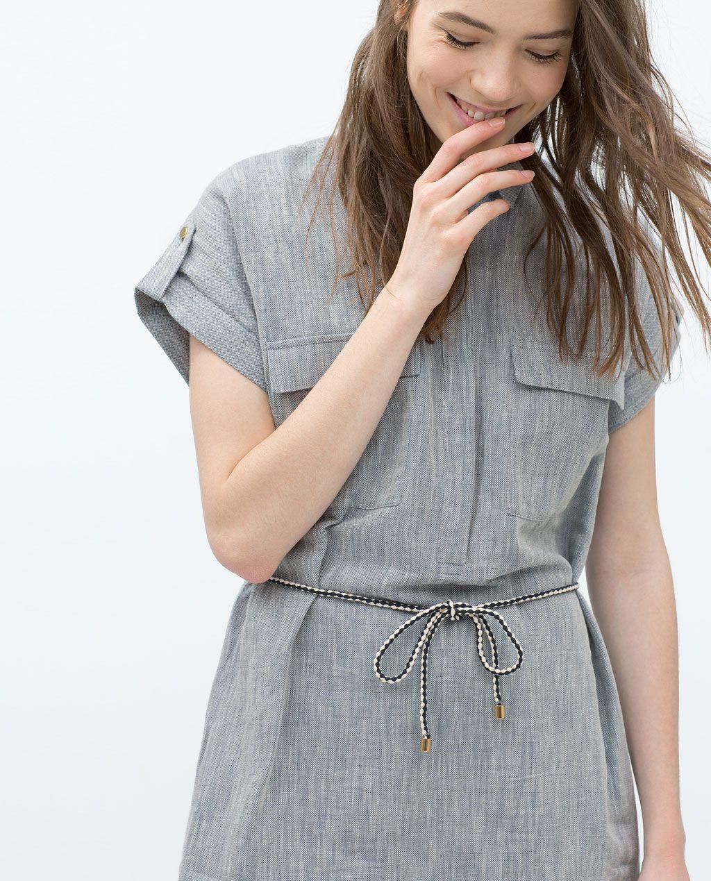 02c65ed6ad LINEN SHIRTDRESS BELT-View all-Dresses-WOMAN