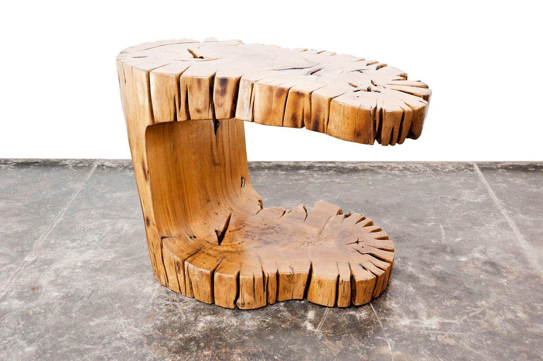Hugo França | Mesa Camboatá | Madeira Pequi --- Hugo França | Camboatá Side Table | Pequi Wood