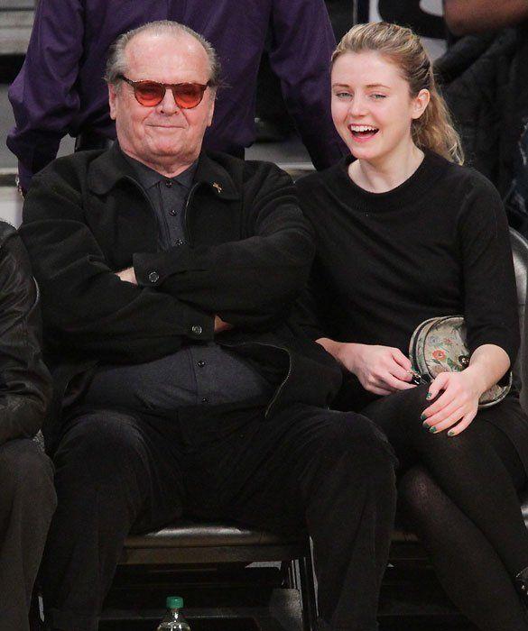 Jack Nicholson And His Daughter Lorraine Celebrity Kids
