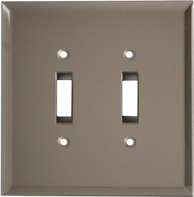 Glass Mirror Bronze Tint Wall Plates Outlet Covers Mirror