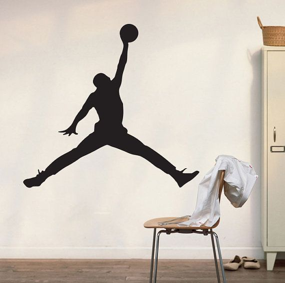 Michael Jordan Wall Decal Art Decor Sticker Bulls Decal