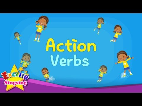 Kids vocabulary - Action Verbs - Action Words - Learn English for ...