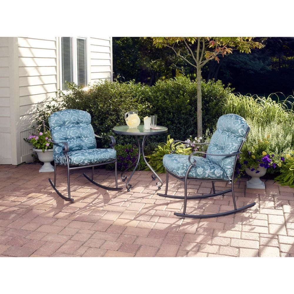 Incredible Outdoor 3 Piece Patio Rocking Chairs Bistro Set Furniture Ibusinesslaw Wood Chair Design Ideas Ibusinesslaworg