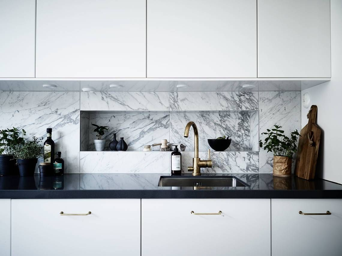 Beautiful marble kitchen | Pinterest | Marbles, Kitchens and Interiors