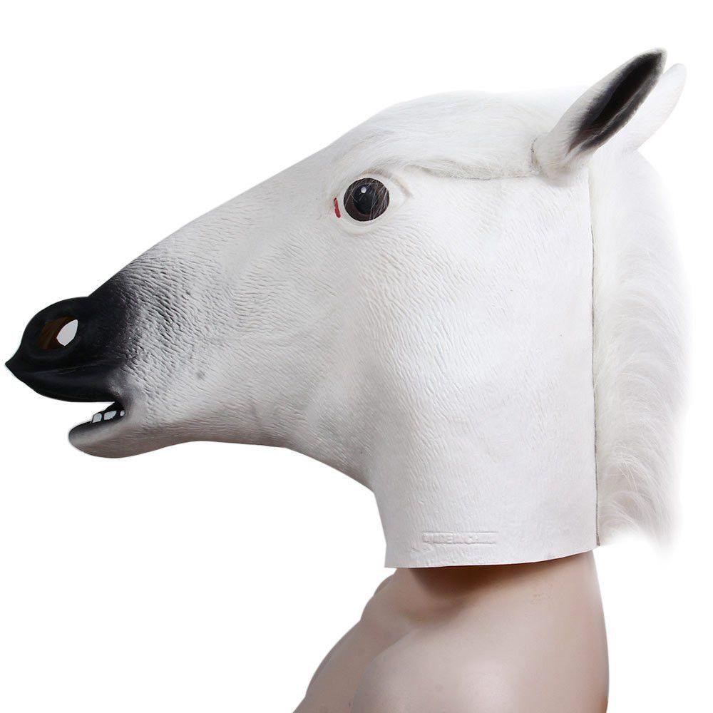 Creative Creepy Horse Head Mask Halloween Christmas Costume ...
