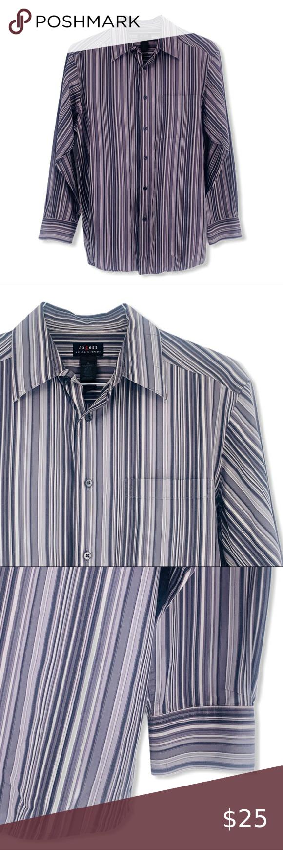 2 30 Axcess Men S Vertical Stripe Dress Shirt Med Vertical Striped Dress Shirt Dress Mens Shirt Dress [ 1740 x 580 Pixel ]