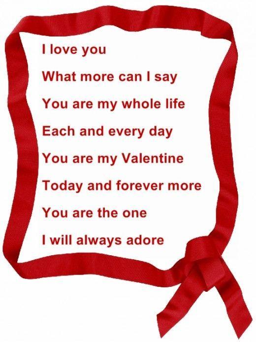 Romantic Valentine Poems   quotes   Valentines day poems ...