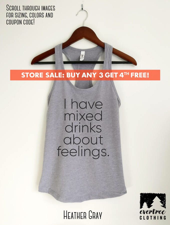 Etsy I Have Mixed Drinks About Feelings Tank Top, Ladies Vacation, Party Tank Top, Cute Drinking Tank, Gi