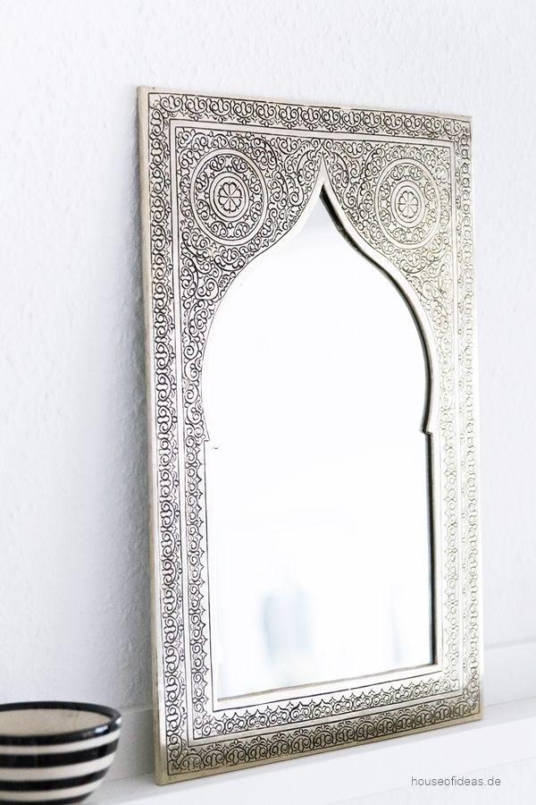 Deko Spiegel silver decoration silber deko spiegel orientalisch silver