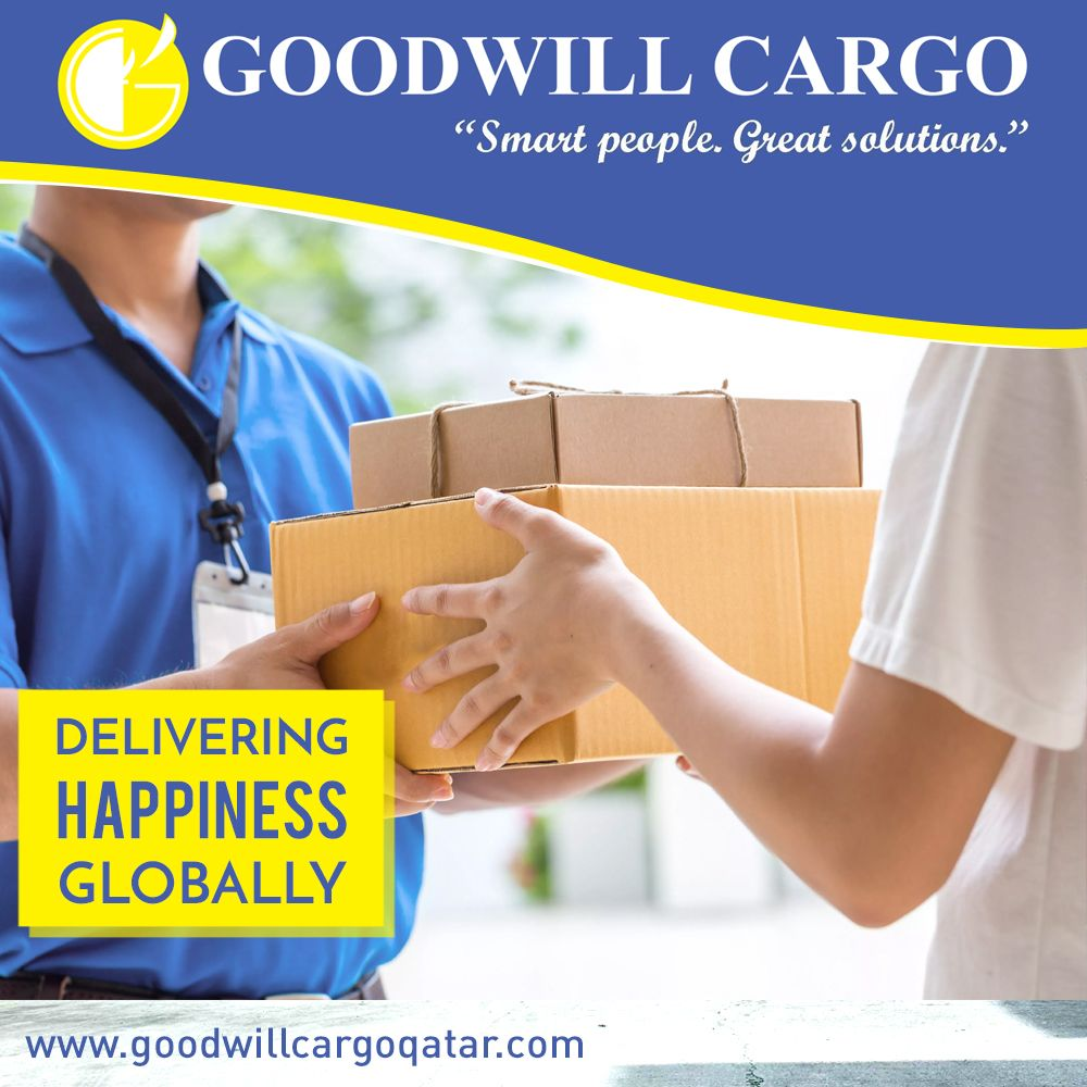 Delivering Happiness Globally. 📧 salesgoodwillcargoqatar