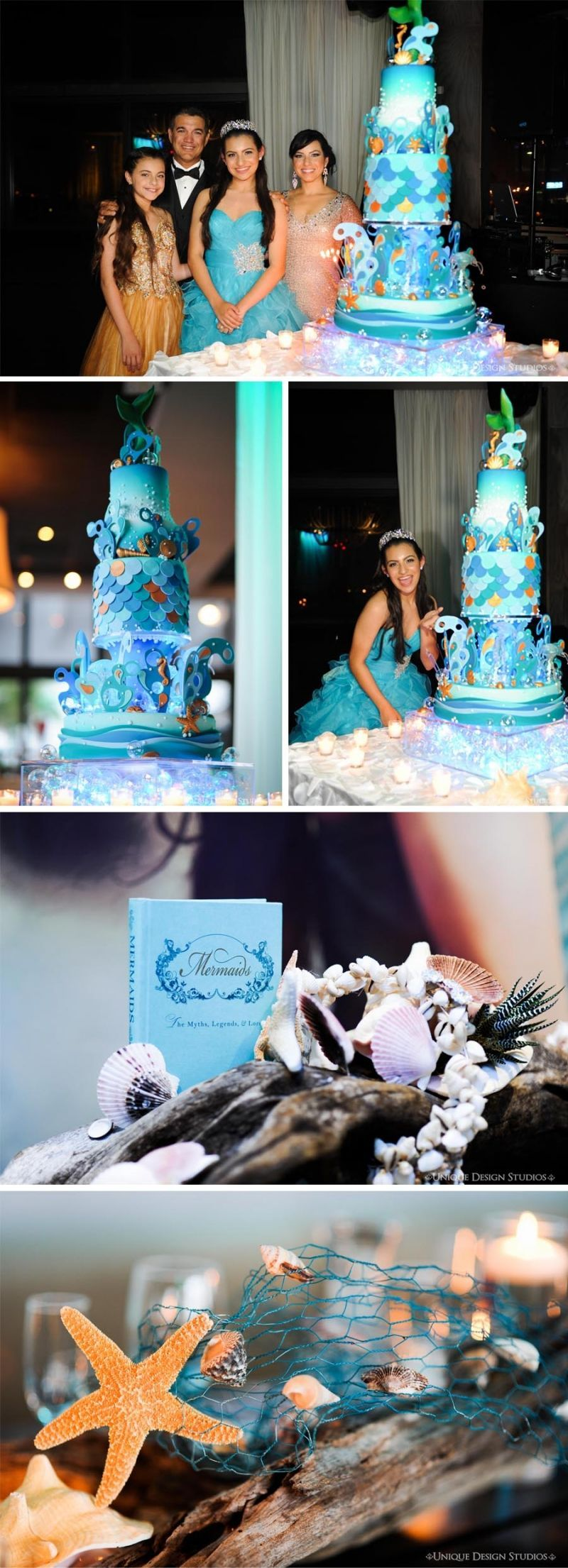 Under the sea wedding decoration ideas  Under the Sea theme Quince Cake and decor oceanthemedquinceanera
