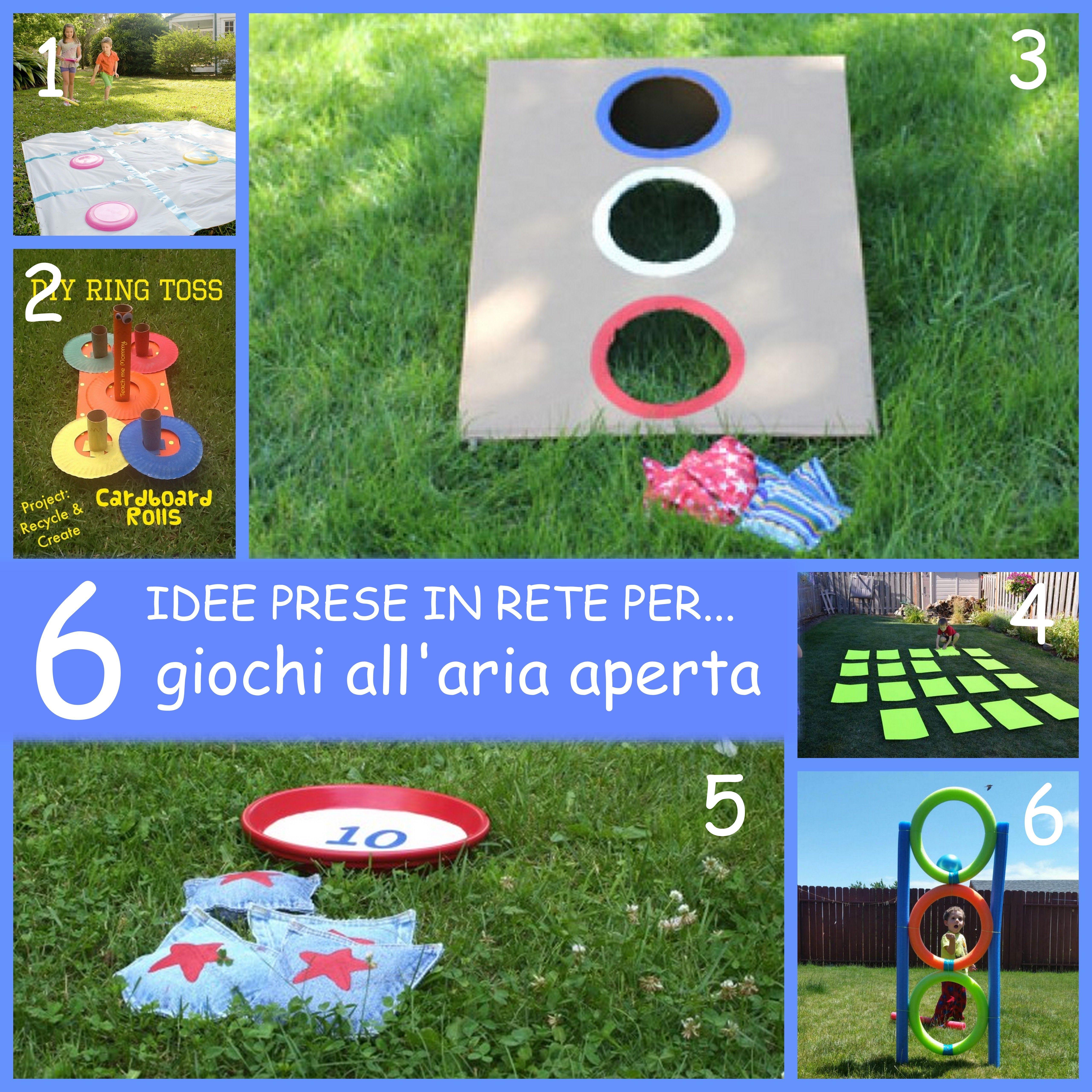 Giochi Da Fare In Giardino 6 idee prese in rete per giochi all'aria aperta | giochi